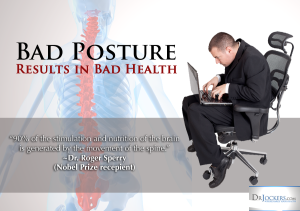 Bad Posture Can Result In Bad Health