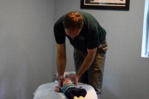 Dr Steve adjusting